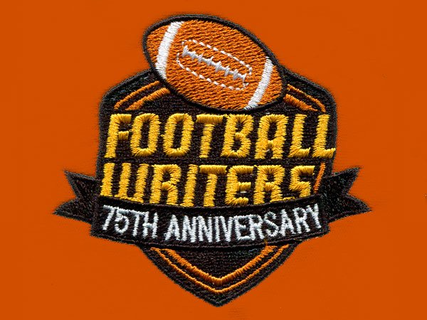 Football Writers Sample Embroidery